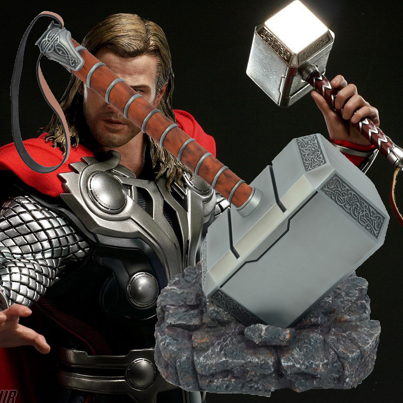 Marvel Infinity War Super-héros résine complète Cattoys 1:1 les Avengers Thor marteau armes Cosplay cadeaux