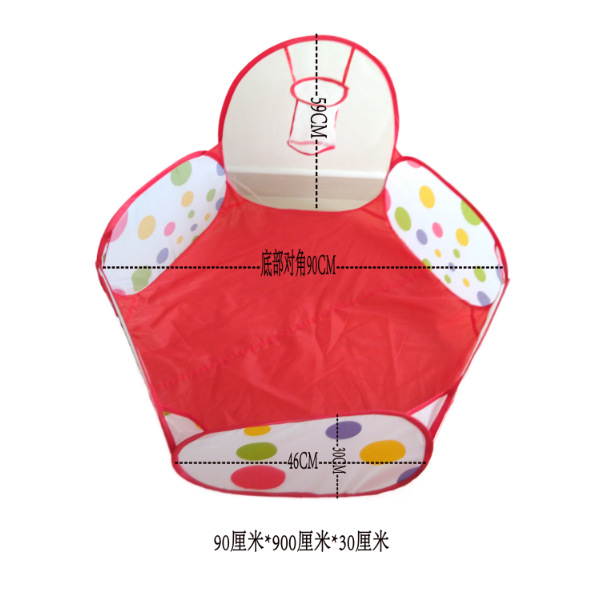 90cm/120cm/150cm Foldable Kids Safe Indoor Ball Pool Play Tent Safety Mesh Baby Playpen Baby Play Toy Tent