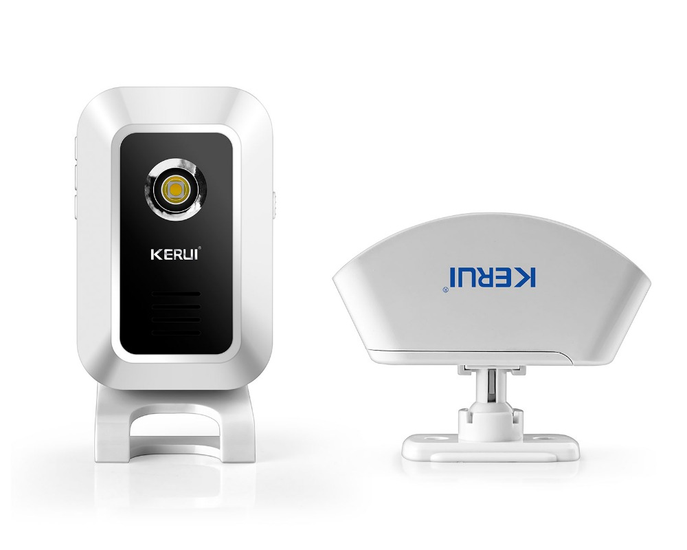 KERUI Wireless Curtain PIR Motion KERUI KR-M7 Wireless Welcome Chime Door Bell Motion Sensor 433MHz for gsm Alarm System
