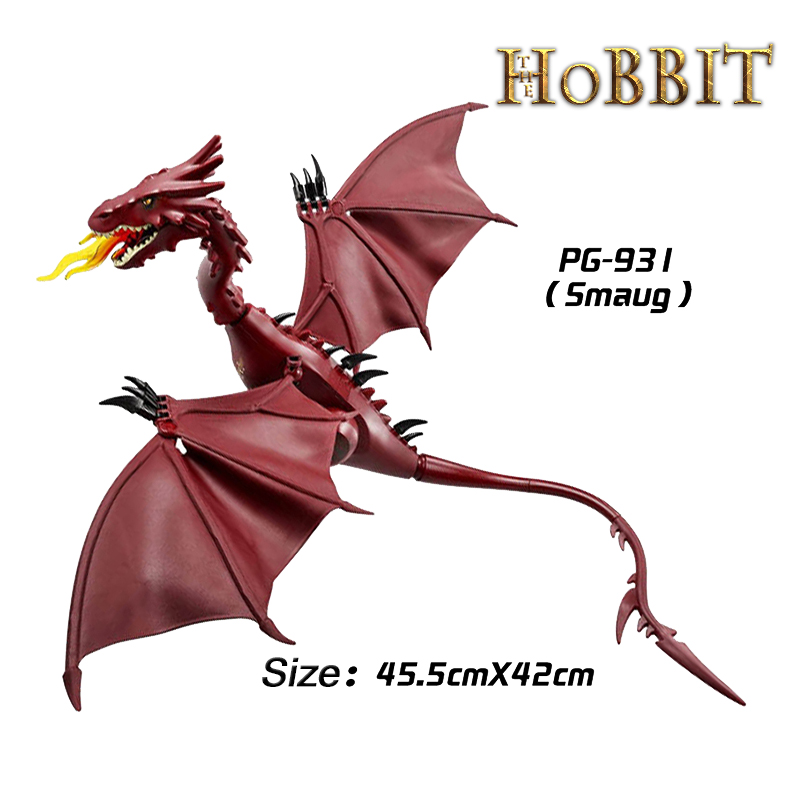 Building Blocks Smaug The Lord of the Rings Hobbit The Lonely Mountain Dol Guldor Battle diy figures Models Bricks Kids DIY Toys pg931 the hobbit desolation of smaug 79018 the lonely mountain dol guldor battle building blocks educationa compatible with lpin