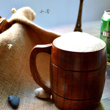 Hot neue Umweltfreundliche Kreative Personalisierte Natürlichen handwerk Handgefertigten Holz Tasse Becher bierkrüge Wohnkultur Geschenk Geschirr