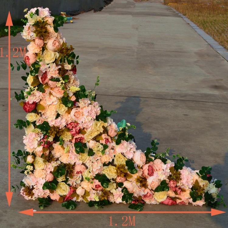 2 Pcs Lot 1 2 M X 1 2 M De Mariage Mur De Fleur Artificielle Soie