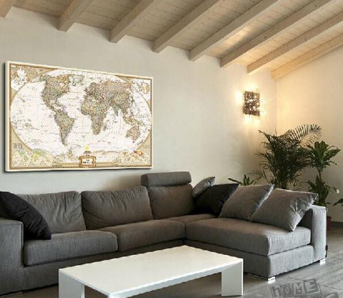 tienda online gran mapa del mundo del vintage decoracin del hogar detallada de la antigedad del cartel pared de la carta retro papel mate papel kraft