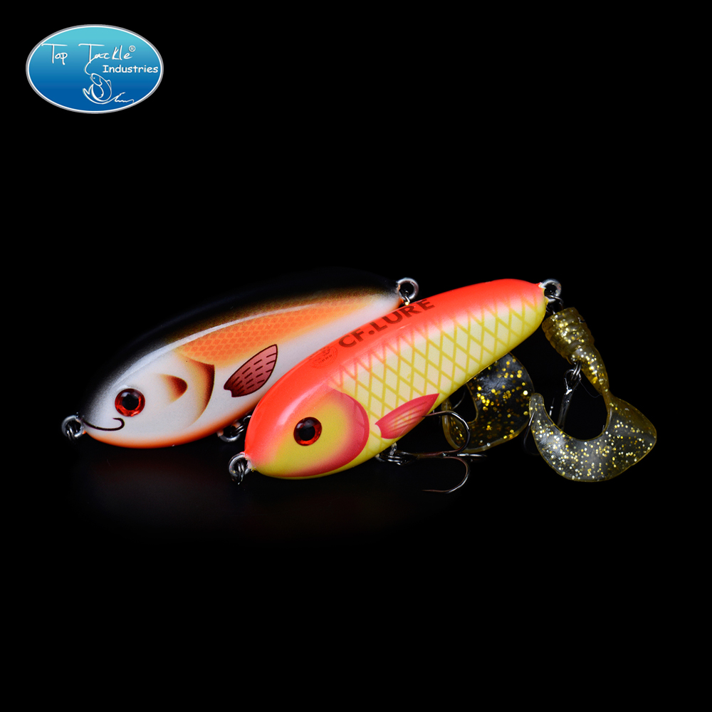 Free Shipping Fishing tackle wholesale fishing lure Jerk Bait LITTLE DARLING (80mm 28g)-With Soft tail