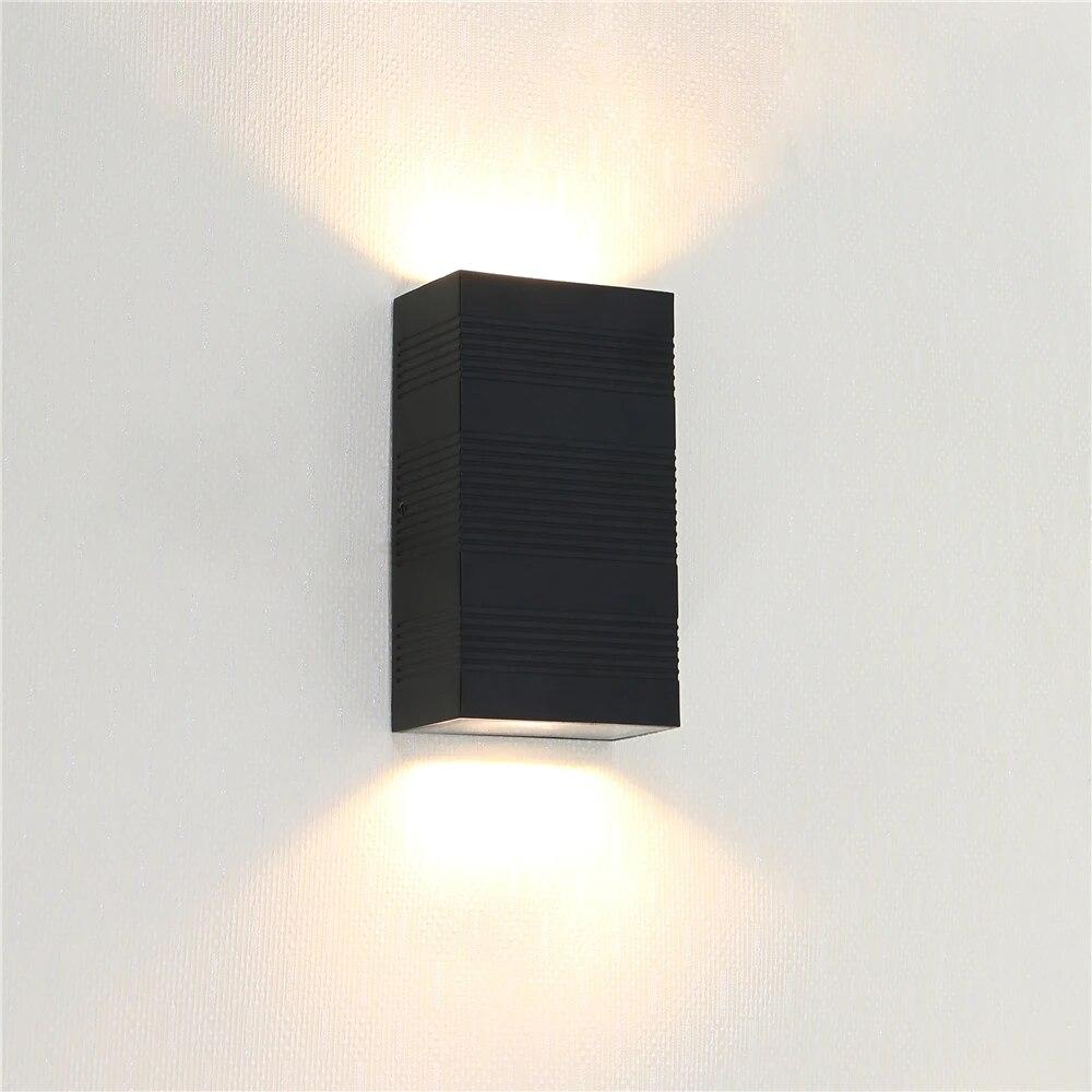 2pcs stripe design decorative fancy living room wall lights fixtures 6w 10w up down bedroom bathroom led wall sconces