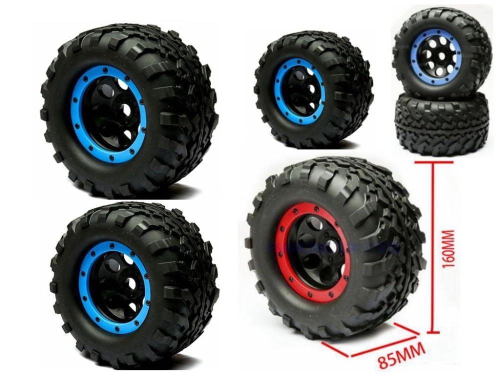 2pcs 1/8 Scale RC Monster Truck MT Wheels & Tires Fits HPI