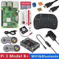 Original UK Raspberry Pi 3 modèle B Plus 1G RAM 1.4 GHz Quad-core 64 bits CPU intégré WiFi et Bluetooth Raspberry Pi 3B + kit