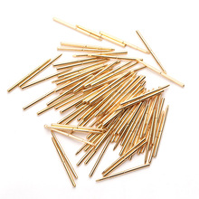 Test Circuit Board Instrument Tool Voltage Test Probe Tip Spring Total Length 24.5mm Brass Gold Plated For PA160-F 100pcs