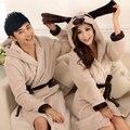 Flanela Super Macio Roupão de Banho Com Capuz Roupões de Banho Das Mulheres Dos Homens Camisola Floral Bonito Anime roupas caricatura Robe Plus Size XXL