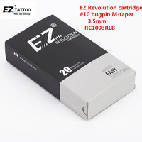 RC1003RLB EZ Revolution Tattoo Needle Cartridges 10 Round Liner Medium Taper 3 3 5mm For Machines