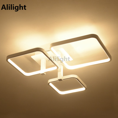Acrylic Metal Modern Led Ceiling Lights Luminaire Light Fixtures For Living Room Design Plafonnier