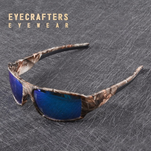 b4e98912cf Moda para Hombre Gafas De Sol polarizadas Gafas De Sol Hombre Camo  camuflaje Sol Oculos Masculino