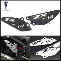 For KAWASAKI NINJA ZX14R ZX 14R ZX1400 ZZR1400 2006 2016 Motorcycle Accessories CNCAluminum Foot Peg Heel Plates Guard Protector