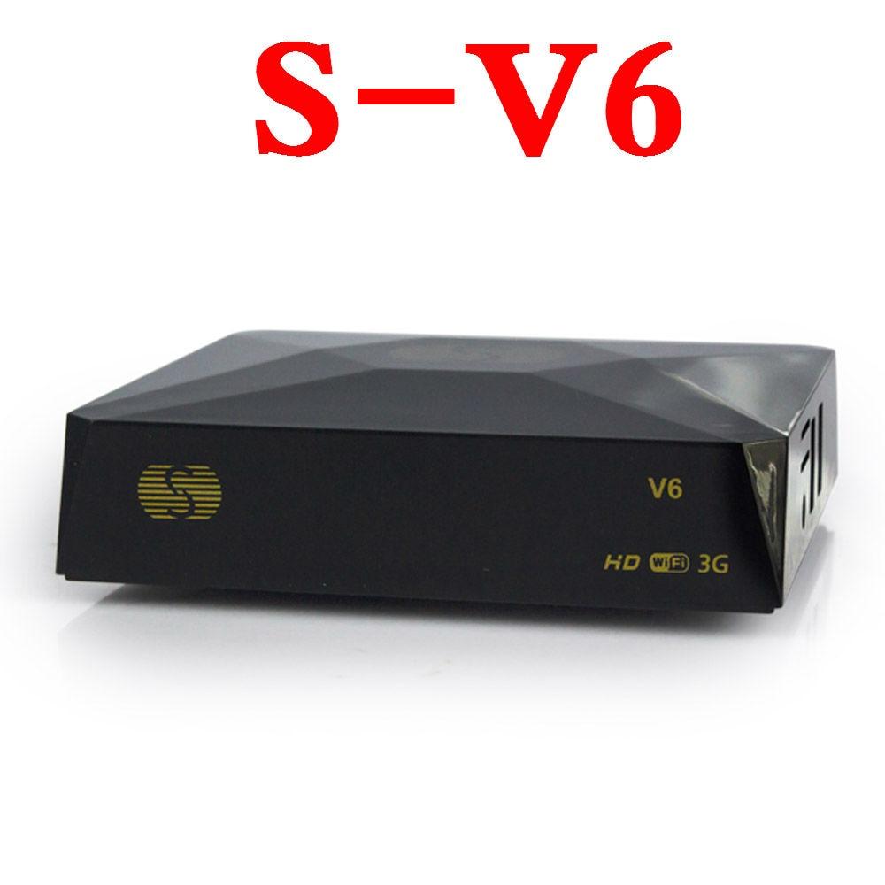 DVB-S2 Numérique Récepteur Satellite S-V6 2 USB port Soutien Xtream TV Box NOUVELLE Roue TV WEB TV Youtube USB Wifi biss Clés