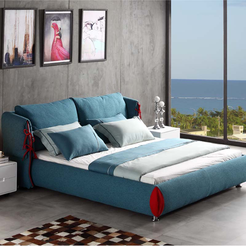 Popular wood queen bed buy cheap wood queen bed lots from for Factory direct bedroom furniture