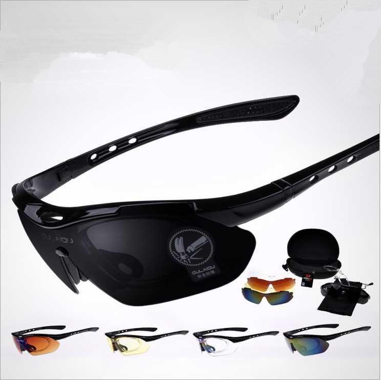 ea11139177e076 Chaude Optique UV 400 lunettes de Soleil Hommes Femmes Courir Sport  Polarisées Eyewears Lunettes 5 Lentille Ensemble