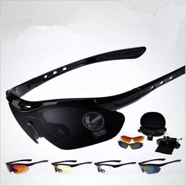 Hot Optical UV 400 Sunglasses Men/Women Running Outdoor Sport Polarized Eyewears Glasses 5 Lens Set