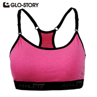 GLO STORY Band Women Tops 2016 New Women Sports Bra For Running Quick Drying Professional Sports