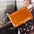 New Arrival Fashion Women Genuine Leather Coin Purse 7 Colors High Quality Ladies Small Wallet Zipper Real Soft Lady Coin Wallet