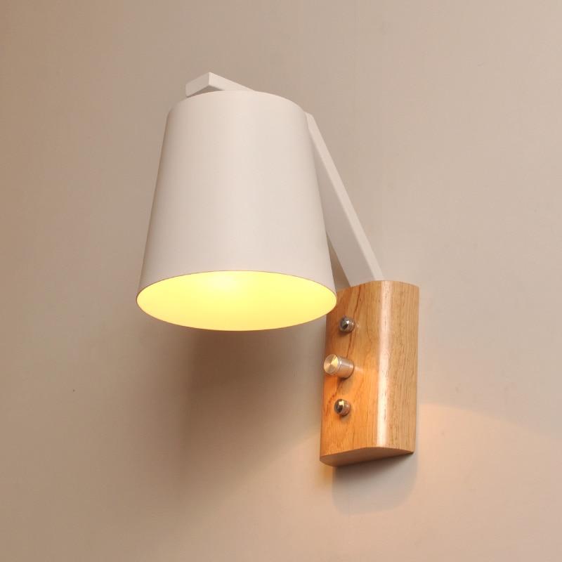 Modern wood LED wall sconces House Light Wall Lamp Wall Lamp Wall decoration Interior Lighting Fixture e27 Metal screen