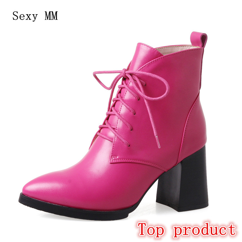 Genuine Leather Women High Heel Ankle Boots Spring Autumn Shoes Woman Short Boots High Quality Plus Size 33 - 40 high quality genuine leather women shoes spring and autumn high heels women boots hollow out lace ladies fashion boots