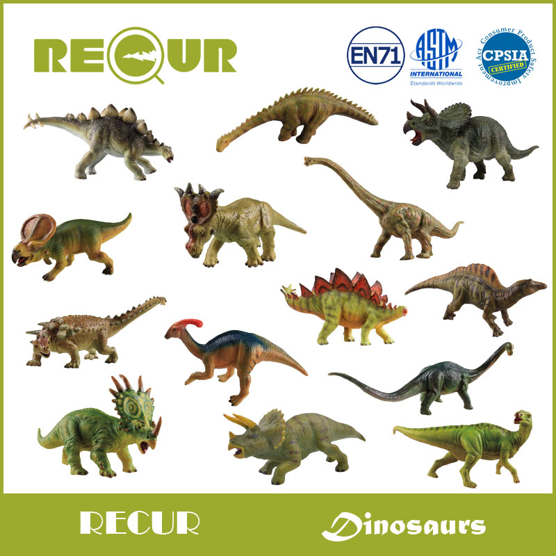 US $24 41 |Recur Toys Jurassic World Park Dinosaur Stegosaurus Triceratops  Delicate Model PVC Hand Painted Animal Toy Gift For Kids-in Action & Toy