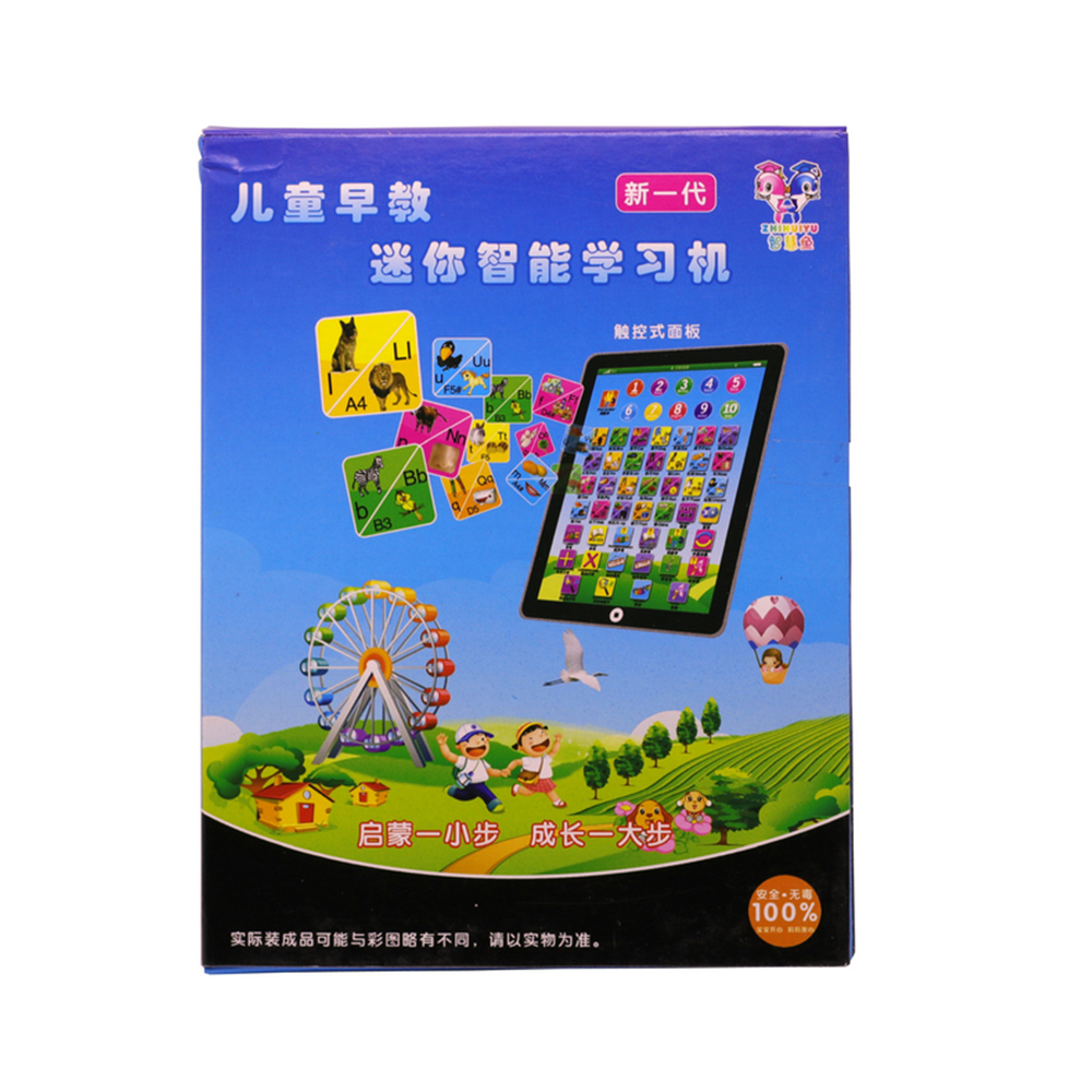 Simulation Tablet Pad Learning Machine Portable Durable Plastic Pink Movie Music Education Children Learn