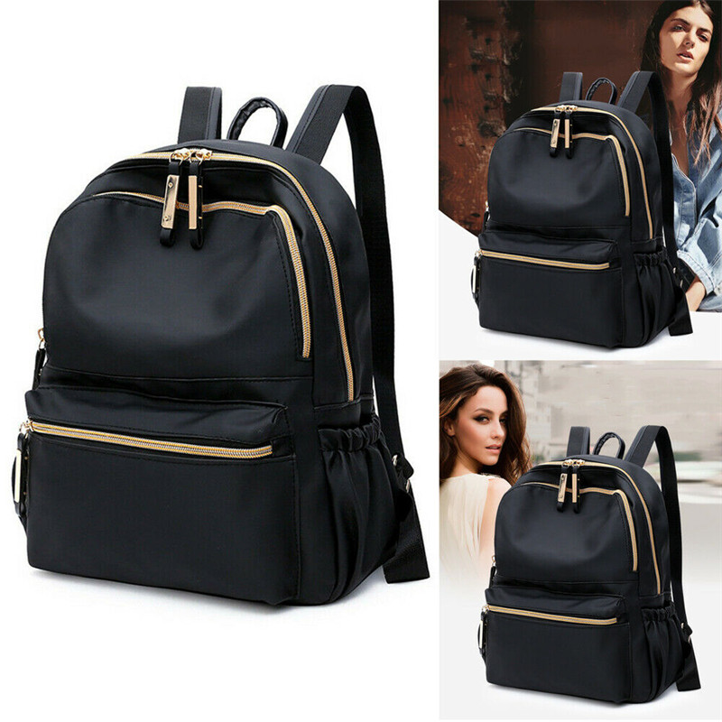 New Fashion Simple Design Solid Backpack Multifunctional Campus Travel Shoulder Bag