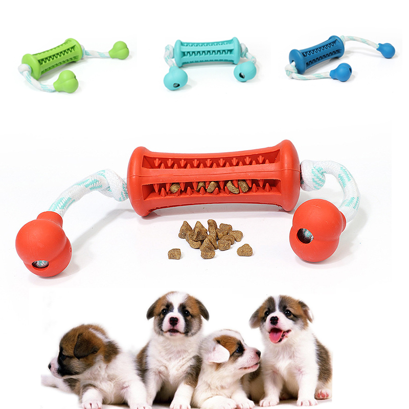 Pet Dog Toys Chew Rubber Biting Food Dog Toys for Small Dogs with Rope Small Fetch and Tug Teeth Cleaning Food Pet Products Собака