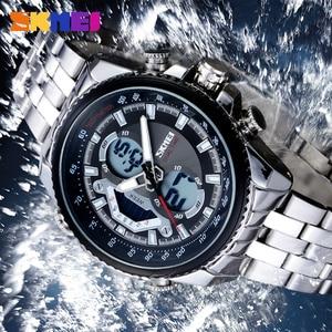 Image 4 - Skmei חם mens שעונים ספורט המותג למעלה mens עמיד למים לצפות קוורץ נירוסטה man שעוני יד relogio masculino