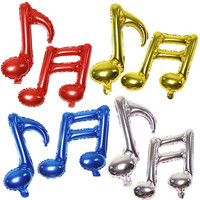 Single Double Note Foil Balloons Children Musical Modeling Balloon Inflatable Toys Birthday Party Decoration Christmas