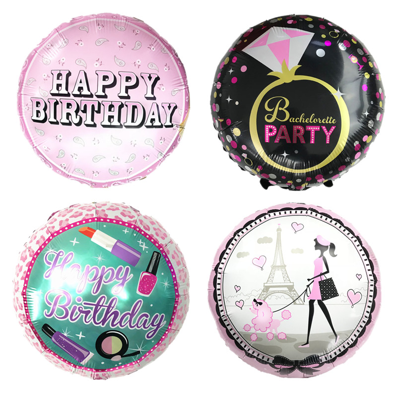 18Inch Unicorn Flamingo Kitty Pineapple Boys or Girls 1st Happy Birthday Balloons Party Wedding Decoration Baby Shower Supplies