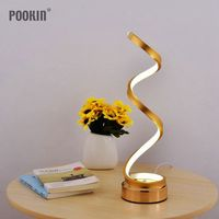 Modern Creative Art Eye Protected  LED Desk Lamp Acrylic Spiral Arc Table Light For Bedroom Living Room Home Decor