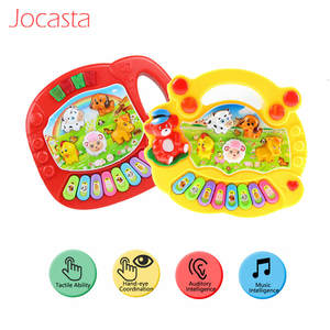 Toy Piano Electric-Flashing-Toys Musical-Instrument Farm Developmental Animal Baby Children
