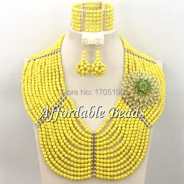 Yellow Costume Jewelry Set Perfect Bridal Costume Jewelry Wholesale