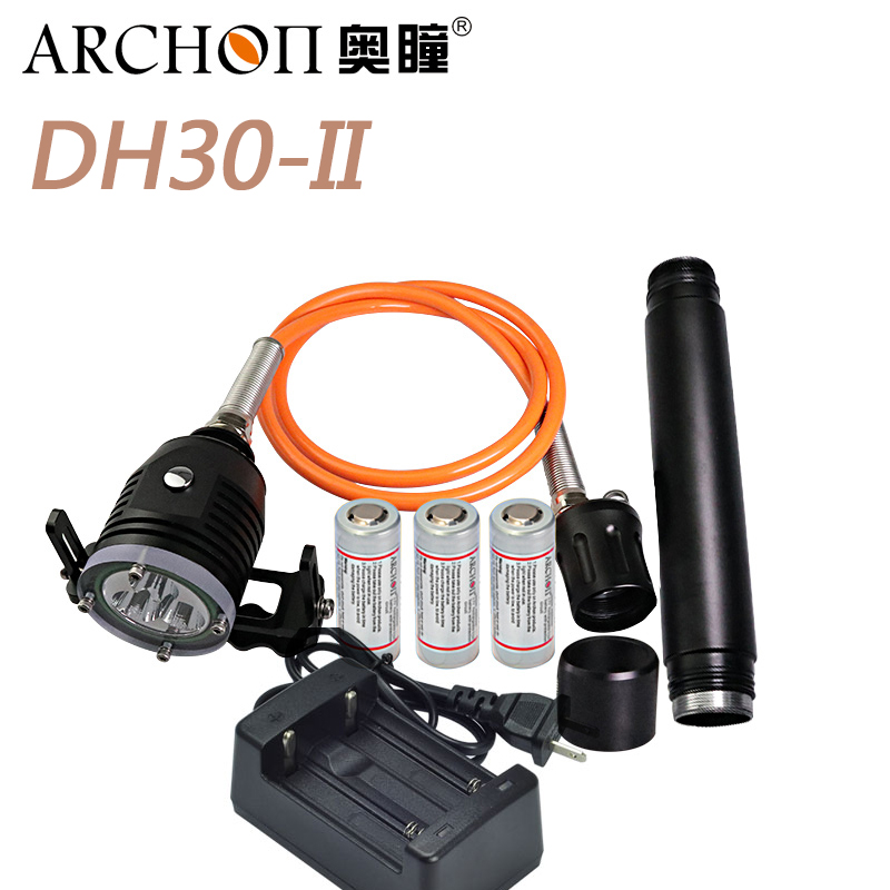 ARCHON DH30 II 3xCree XML U2 LED 3 Mode 3000LM 100m Underwater 3 26650 Canister Diving
