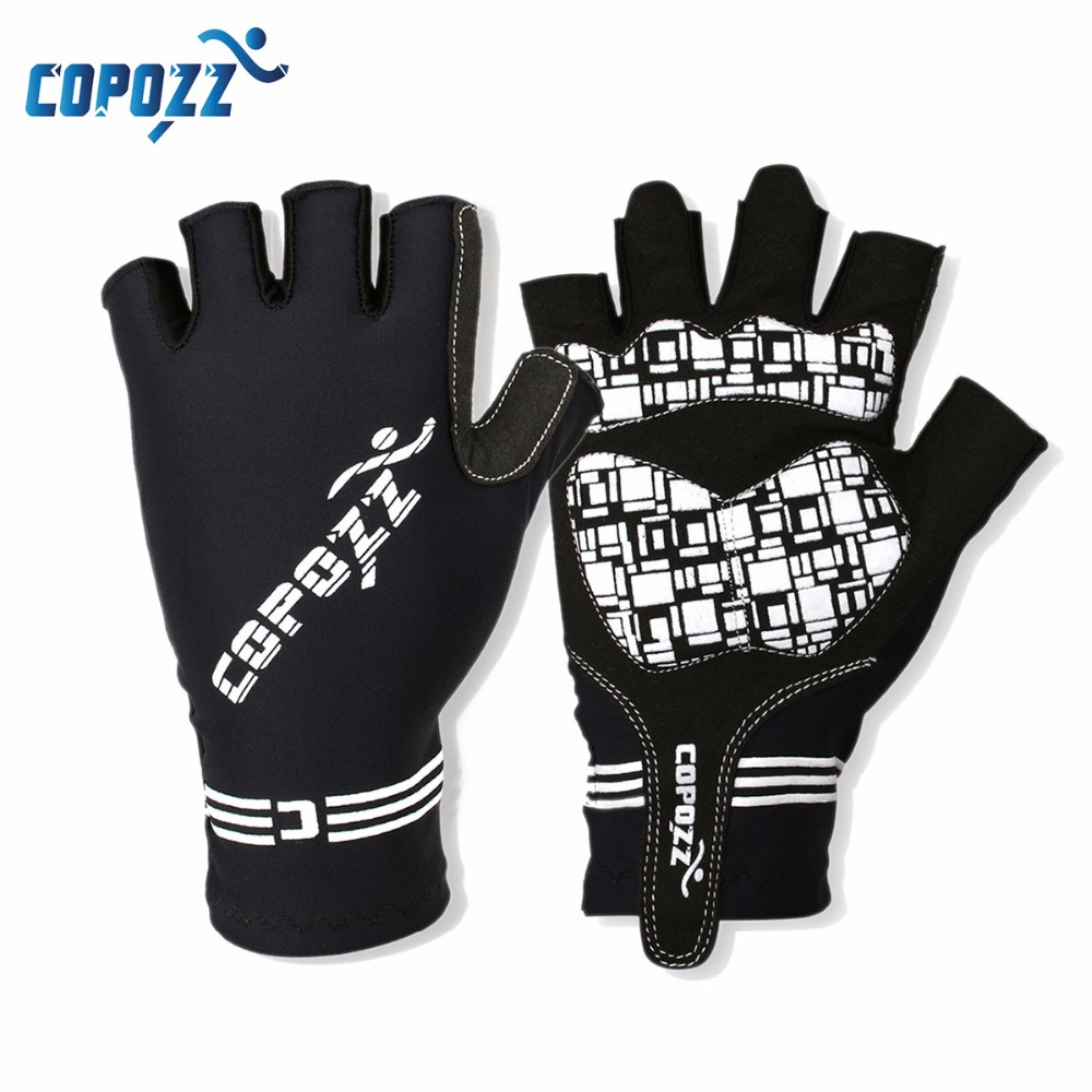 COPOZZ Half Finger GEL Sykling Hansker Mountain Mtb Anti Sliping Sykkel Bike Hansker for Riding Guantes Ciclismo Menn Kvinner Sport