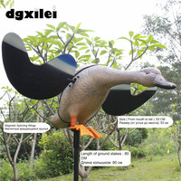 2017 Free Shipping DC 6V Duck Hunting Decoys Hunting Lure Ducks Durable Equipment With Magnet Spinning
