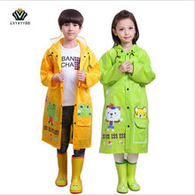 GXYAYYBB Student Raincoat for Children Cartoon Kids Girls boy rainproof Rain Coat Waterproof Poncho Rainwear Rainsuit Raincoat