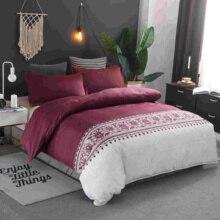 купить 6 Color Simple Plain Bedding Sets 8 Size Comforter Cover 2/3 Pcs Single Double Queen King Duvet Cover Set Without Bed Sheet по цене 1237.49 рублей
