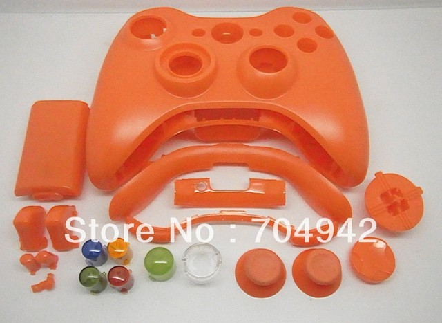 Controller shell for Xbox360 wireless Controller with spare parts Free Shipping 12PCS/Lot Colorfl