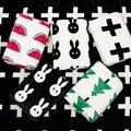 Детское Одеяло Милый Кролик Черный Белый Лебедь Крест Трикотажные Плед для Диван-Кровать Cobertores Мантас Покрывало Банные Полотенца Игры PPY-146