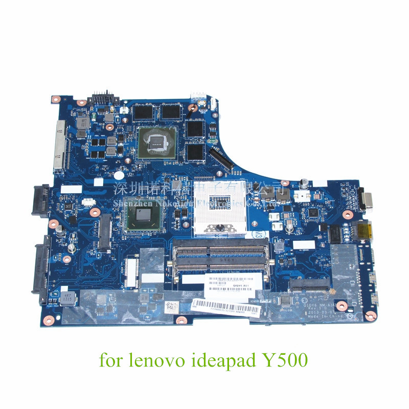 QIQY6 NM-A142 11S90002673 For lenovo ideapad Y500 15.6 laptop motherboard GeForce GT750M+HD4000 DDR3 warranty 60 days da0lz1mb6e0 for lenovo ideapad z380 laptop motherboard with nvidia geforce gt610m video card