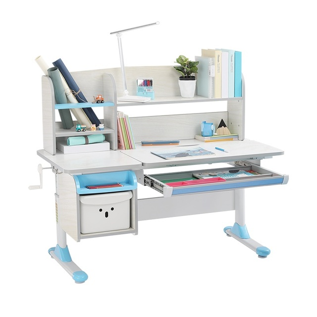 Adjustable Bookshelf Children Activity Art Table Metal Frame Large