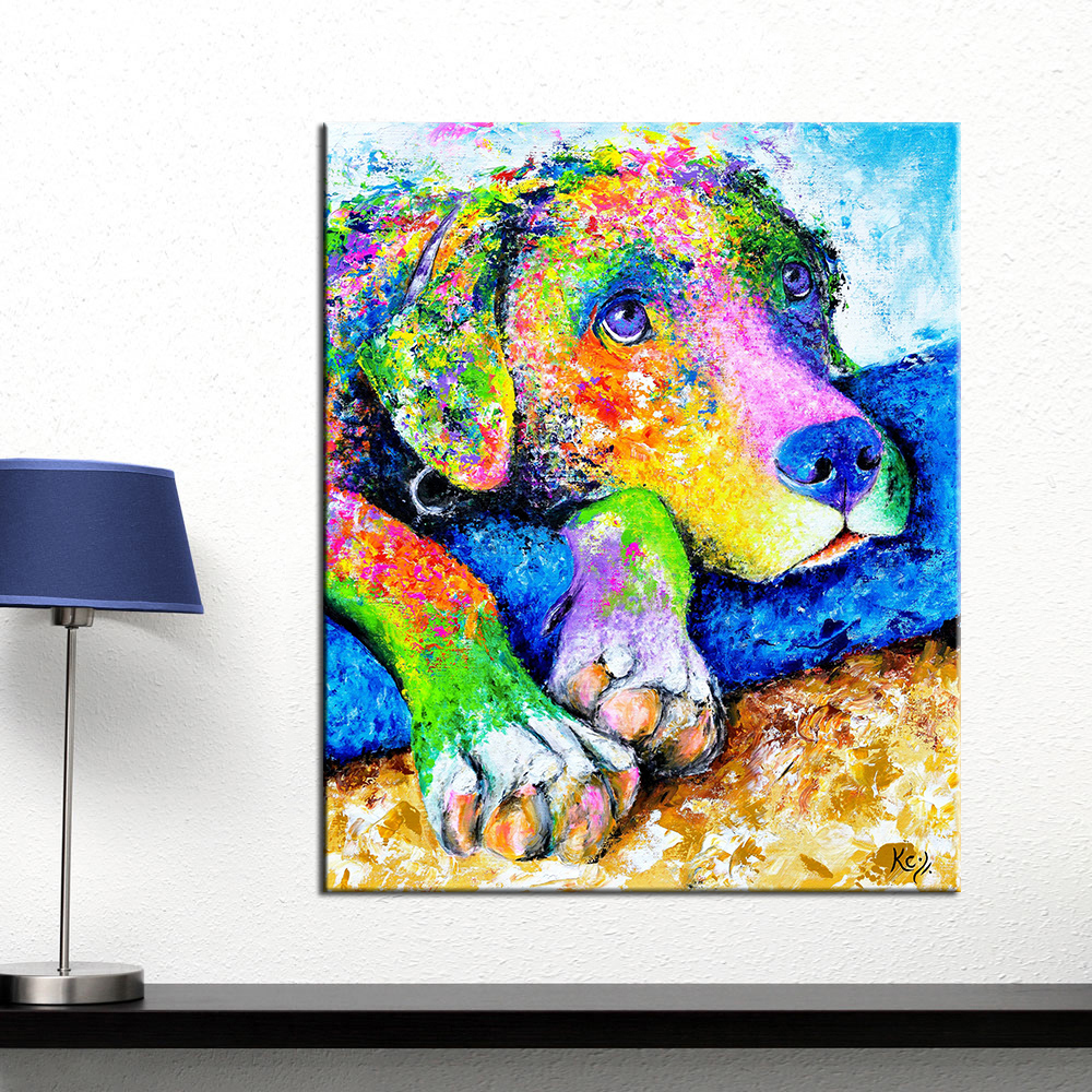 Canvas, Poster, Posters, Living, Wall, Dog