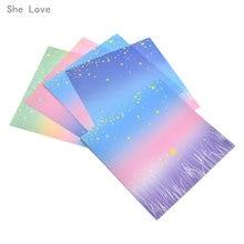 Chzimade-papier étoile chanceux, dégradé de couleur, motif Floral ciel étoilé arc-en-ciel, Origami, bricolage, 60 feuilles