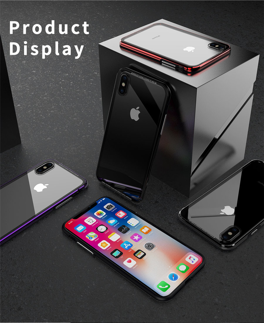 Luxury Aluminum Phone Cases For iPhone X Original R-just Hardness Tempered Glass Cover Case For iPhone X 10 Accessories (9)