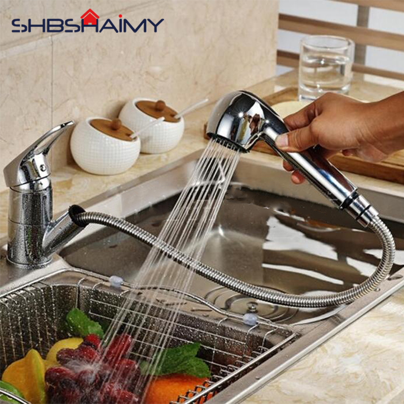 US $30.0 40% OFF|Affordable Kitchen Faucet Rotatable and Pullable Kitchen  Sink Mixer Easy To Clean Corners Tap Including Hot and Cold Pipes-in  Kitchen ...