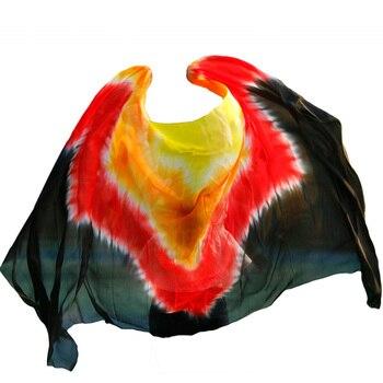 Neue stil bauchtanz schleier 100% silk schleier handgemachte schrittweise farbe schleier kann angepasst werden