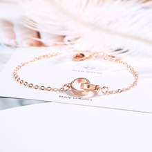 [FCY]  hollow bracelet female rose gold love Korean version of the small fresh heart-shaped Japanese style sweet hand
